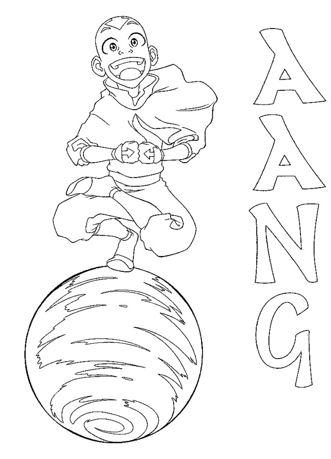 Aang coloring page