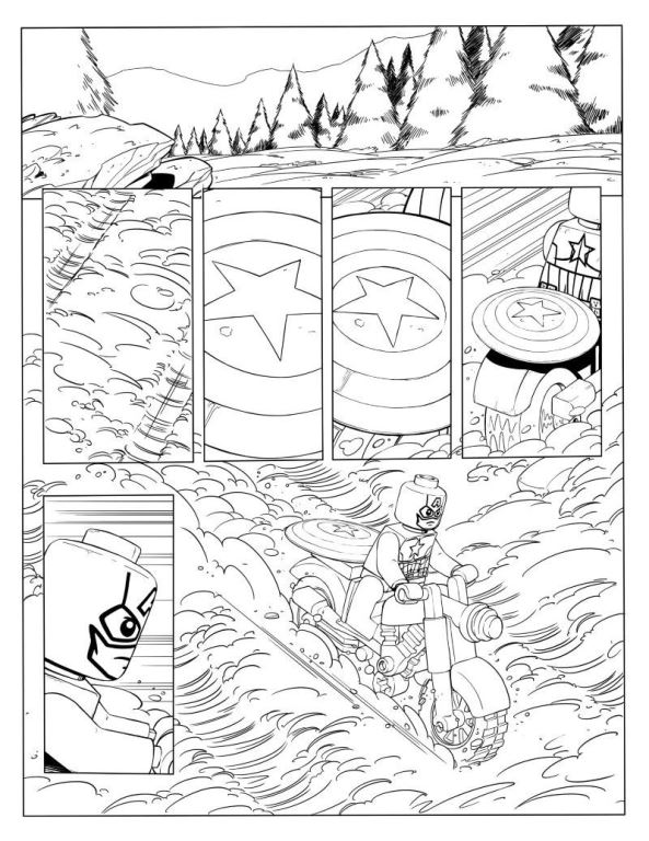 Age of Ultron 3 coloring page