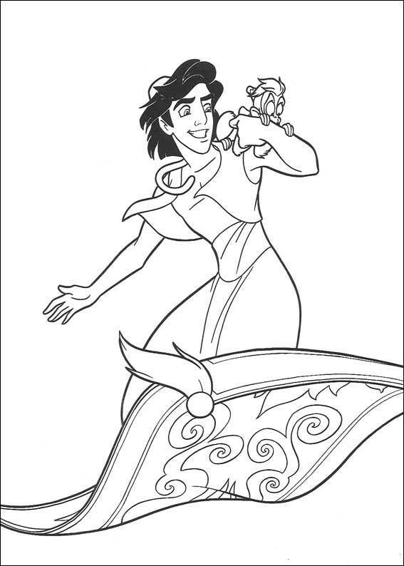 Aladdin (18) kleurplaat