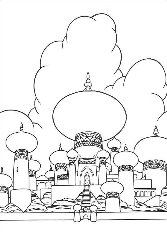 Aladdin (2) kleurplaat