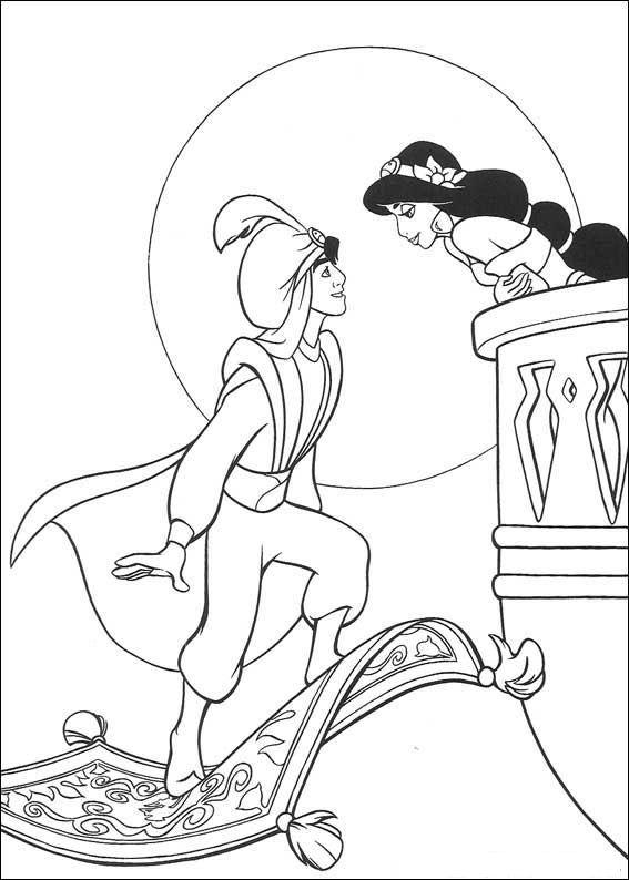 Aladdin (24) kleurplaat