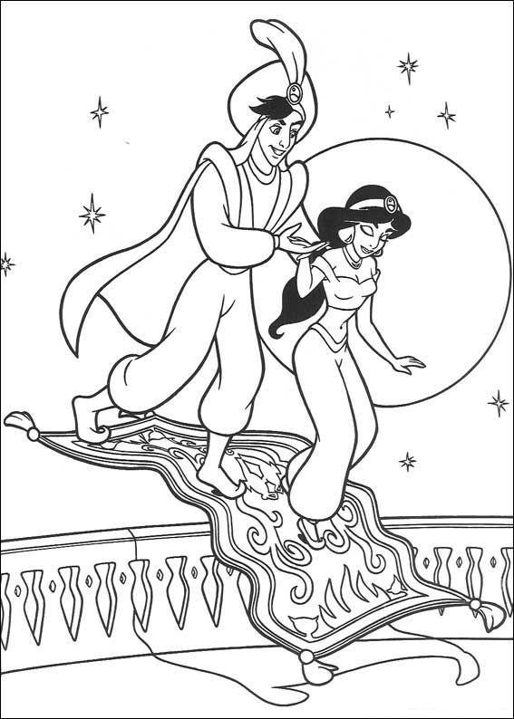 Aladdin (25) kleurplaat