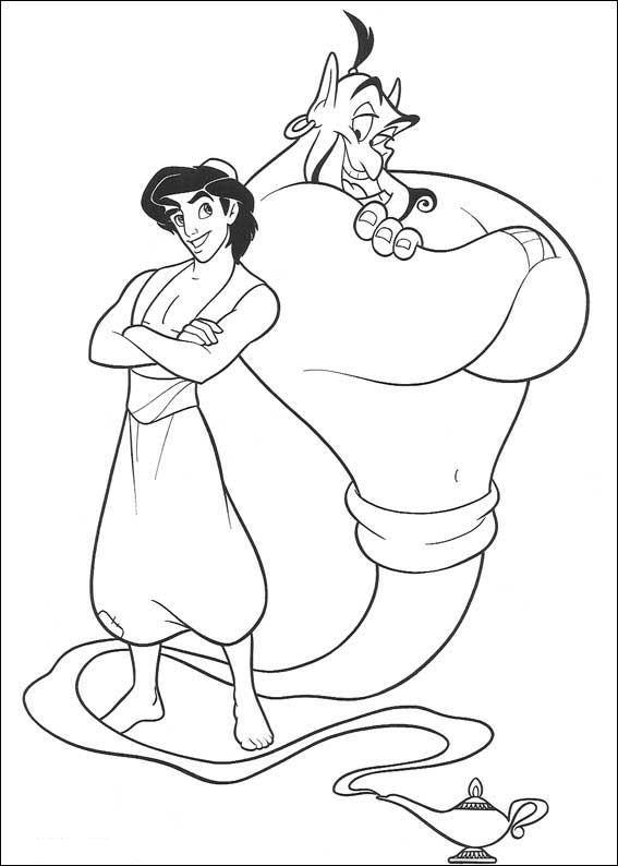 Aladdin (29) kleurplaat