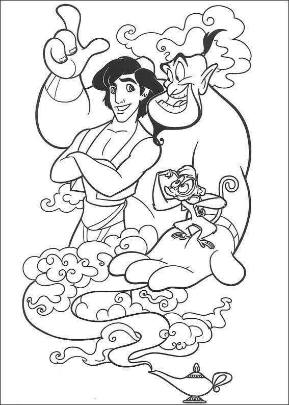 Aladdin (30) kleurplaat