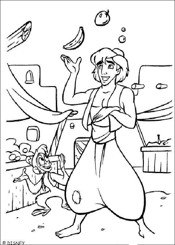 Aladdin (37) kleurplaat