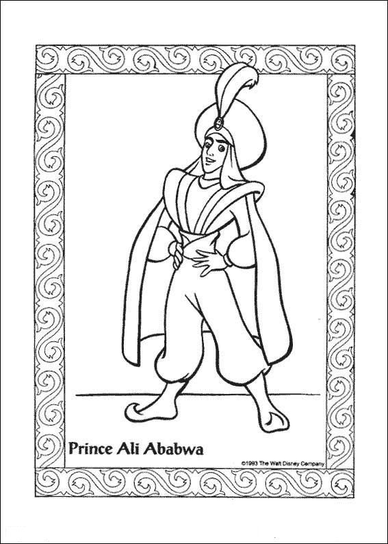 Aladdin (41) kleurplaat