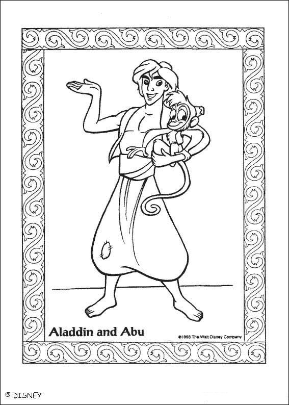 Aladdin (46) kleurplaat