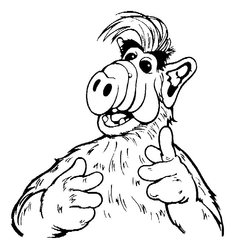 Alf (3) kleurplaat