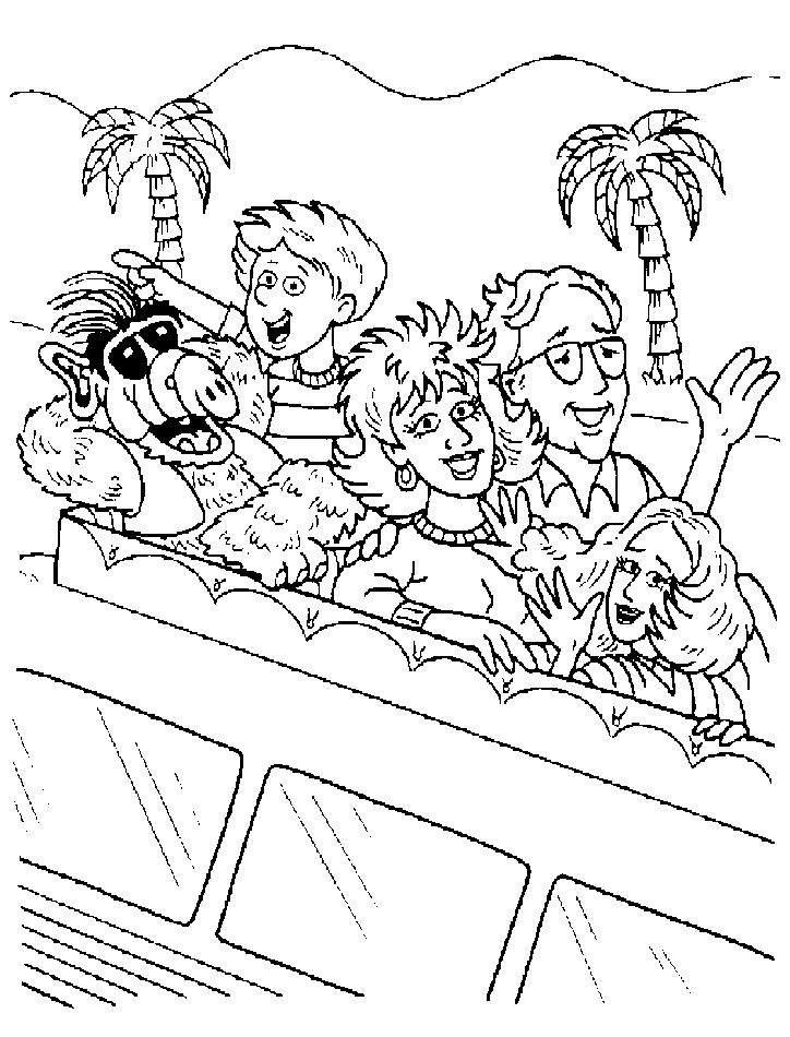 Alf (4) målarbok