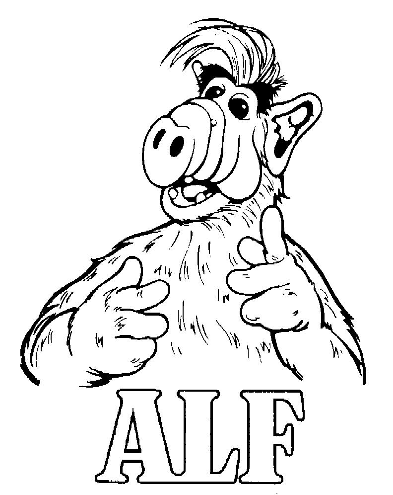 Alf (5) kleurplaat