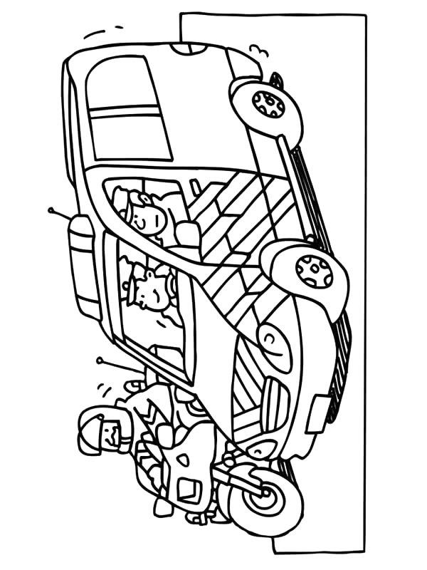 Ambulance chauffeur kleurplaat