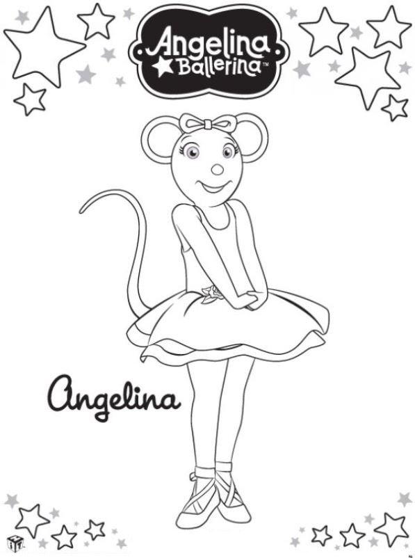 Angelina Ballerina (11) kleurplaat