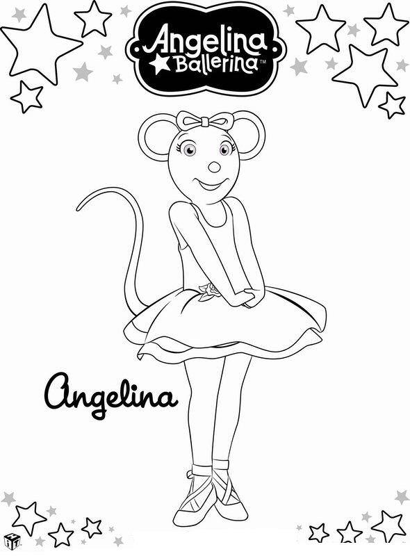 Angelina Ballerina (15) kleurplaat