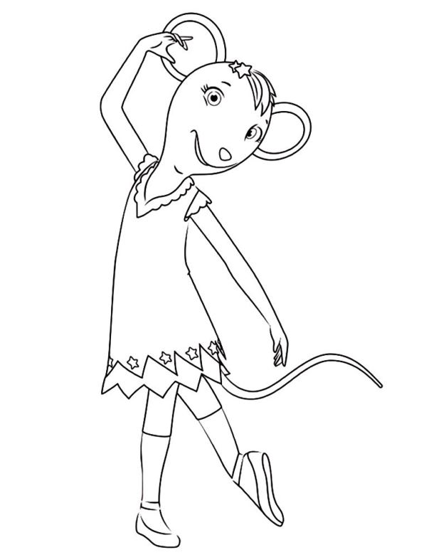 Angelina Ballerina (3) coloring page