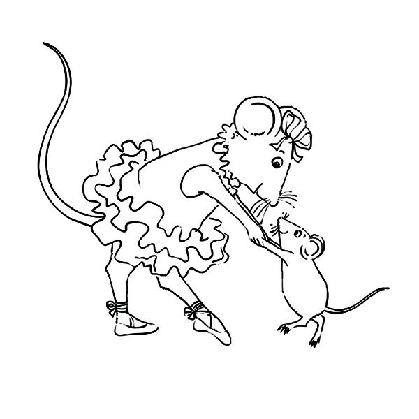 Angelina Ballerina (9) coloring page