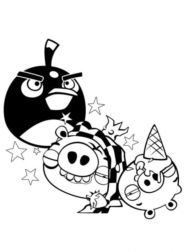 Angry Birds (11) kleurplaat