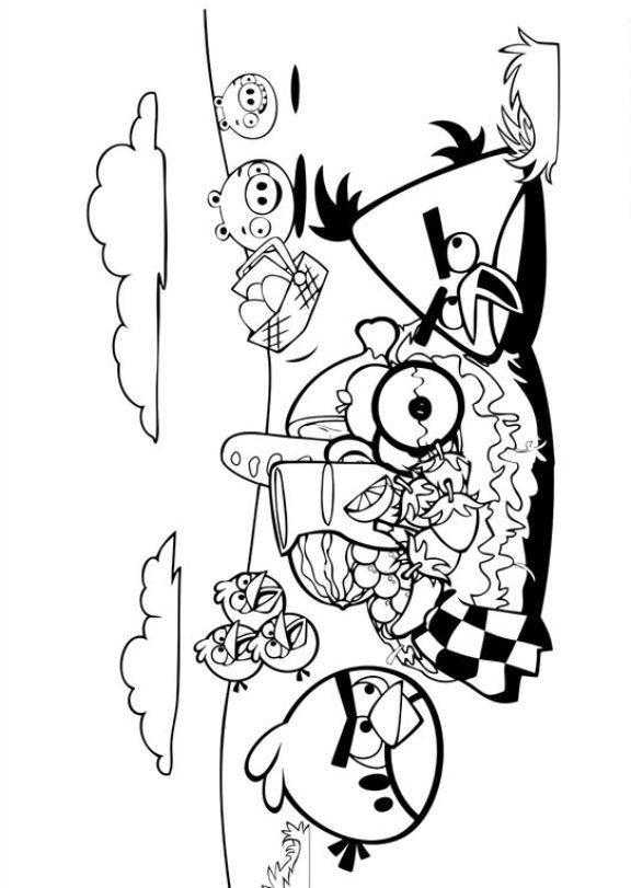 Angry Birds (12) målarbok