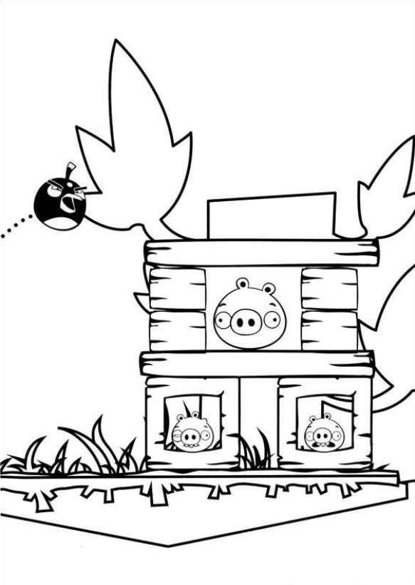 Angry Birds (3) kleurplaat