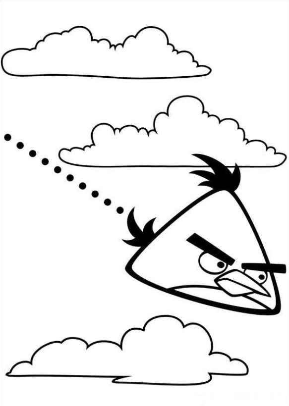 Angry Birds (5) kleurplaat