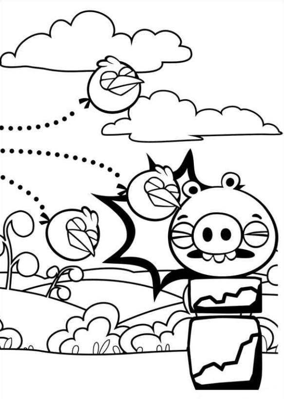 Angry Birds (6) kleurplaat
