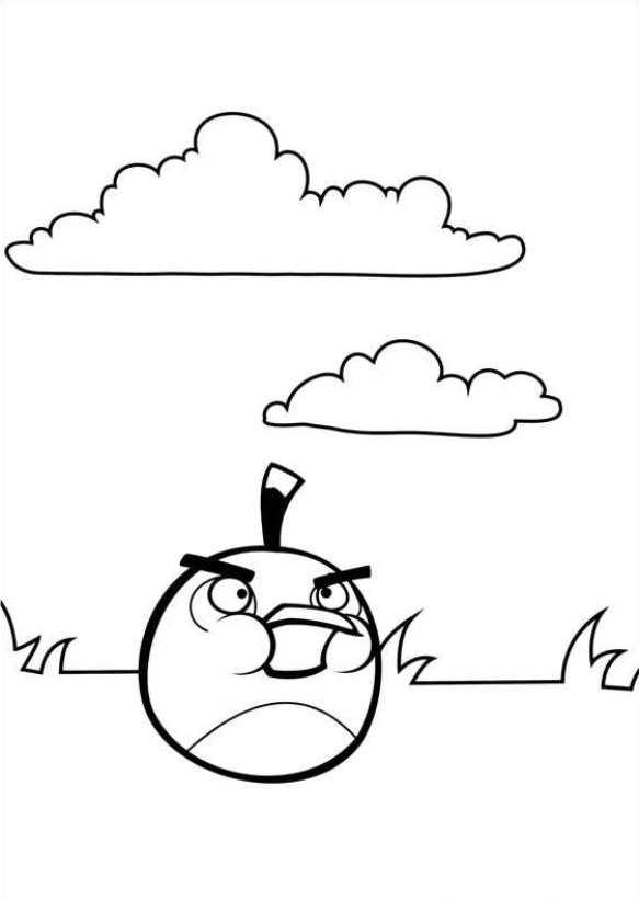 Angry Birds (8) kleurplaat
