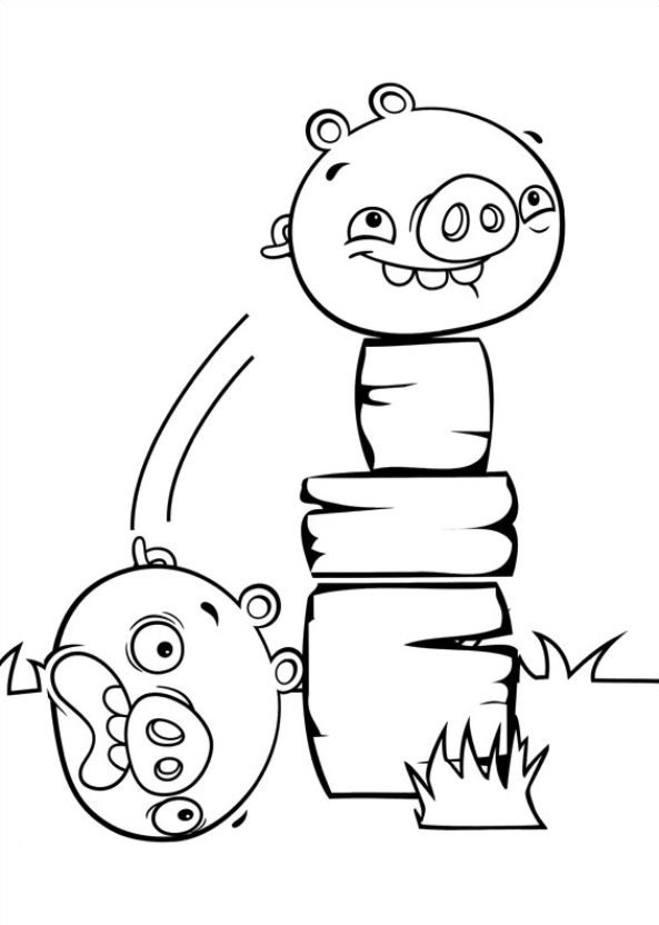 Angry Birds Stella (8) målarbok