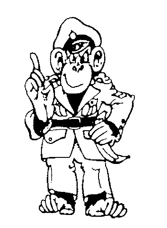 Monkey (16) coloring page
