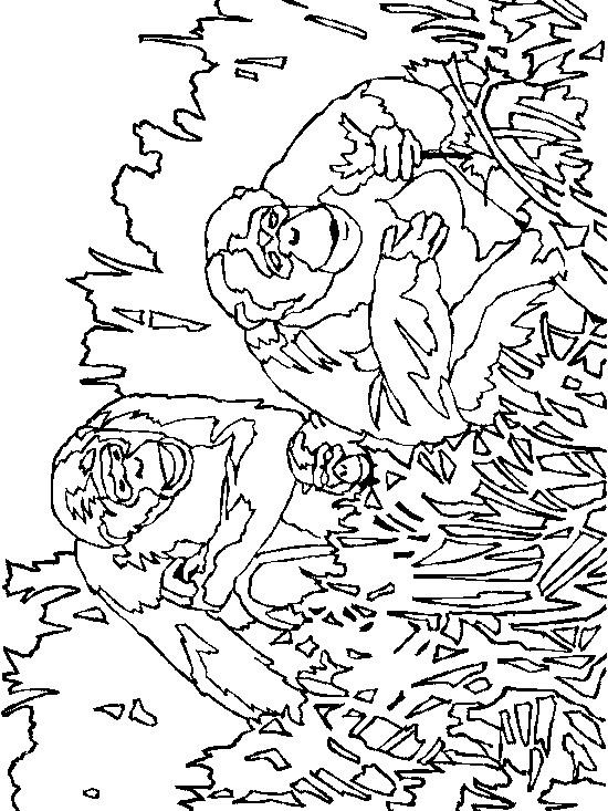 Apen (18) kleurplaat