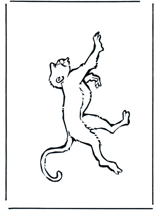 Monkey (2) coloring page