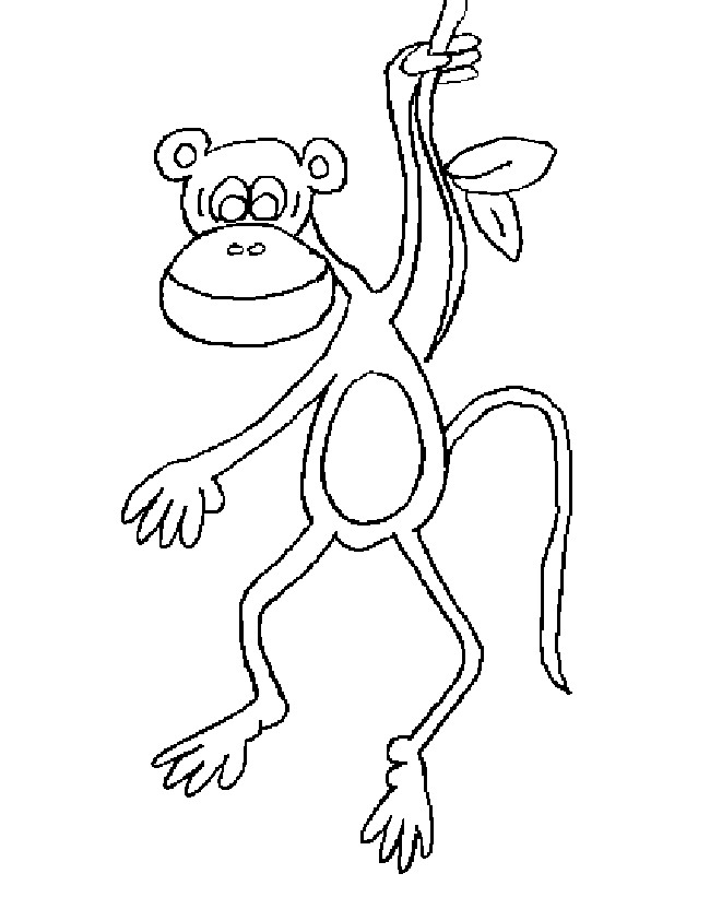 Monkey (25) coloring page