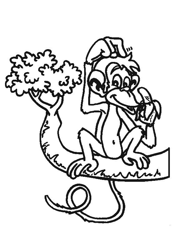 Monkey (28) coloring page