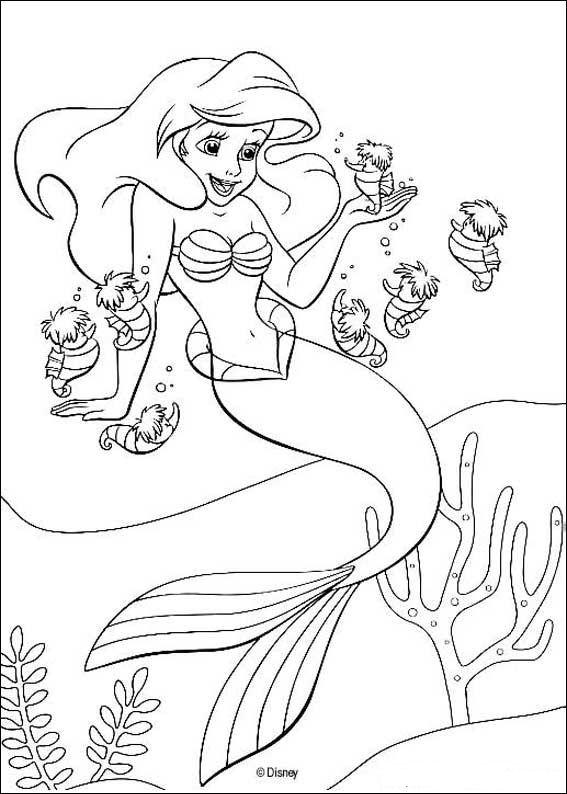 Zeemeerminnen Kleurplaten Printen.Ariel De Kleine Zeemeermin Kleurplaat Jouwkleurplaten