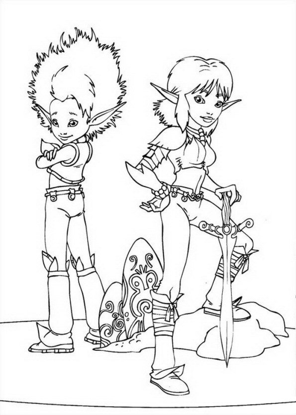 Arthur and Selenia coloring page