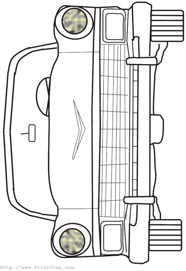 Auto (18) kleurplaat