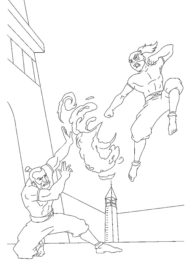 Avatar (4) coloring page