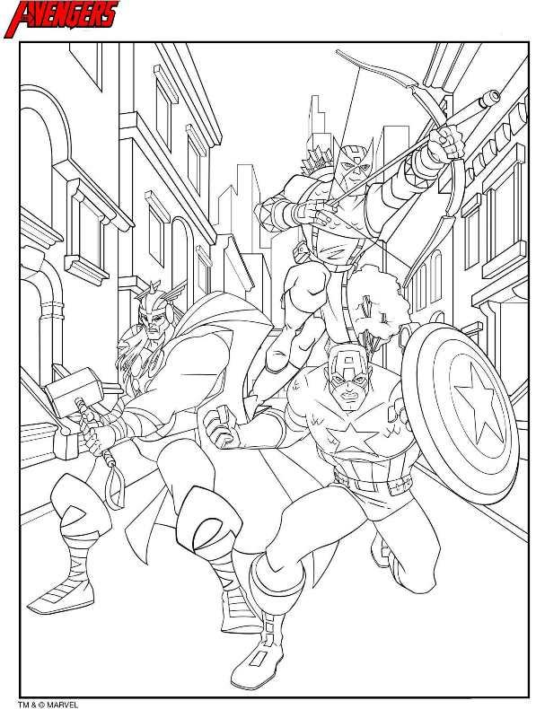 Kleurplaten The Avengers.Avengers Kleurplaat Jouwkleurplaten