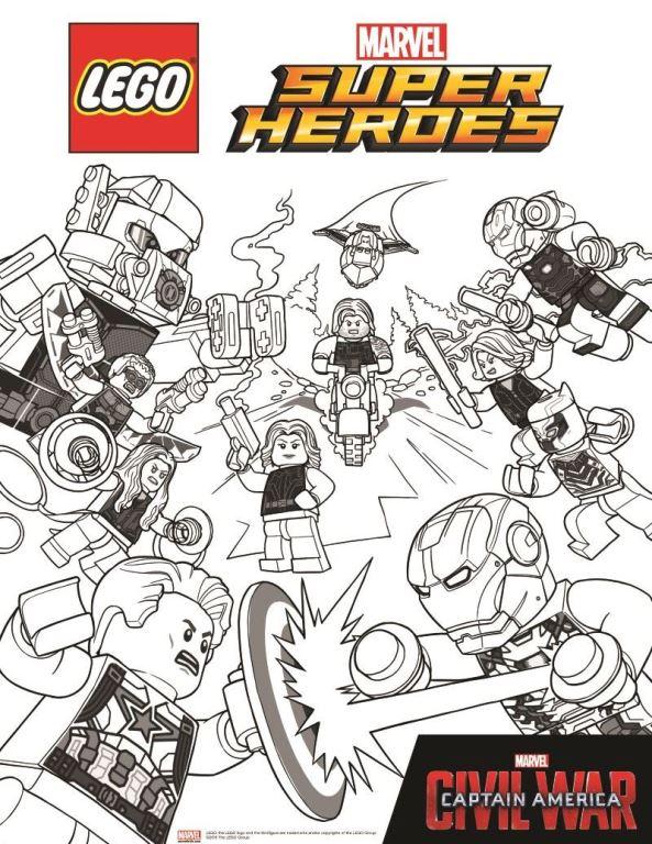 Avengers Civil War 2 coloring page