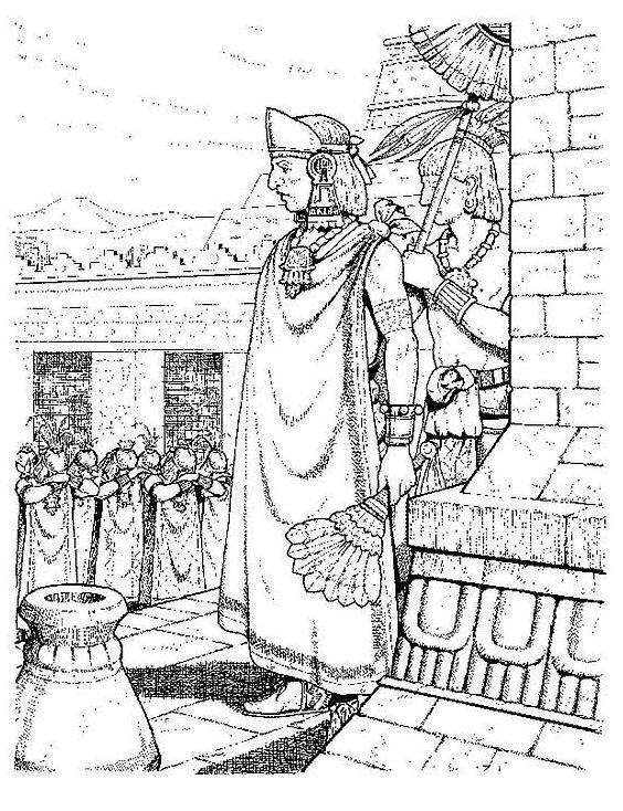 Aztec målarbok