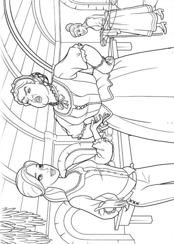Barbie en de drie musketiers (3) kleurplaat