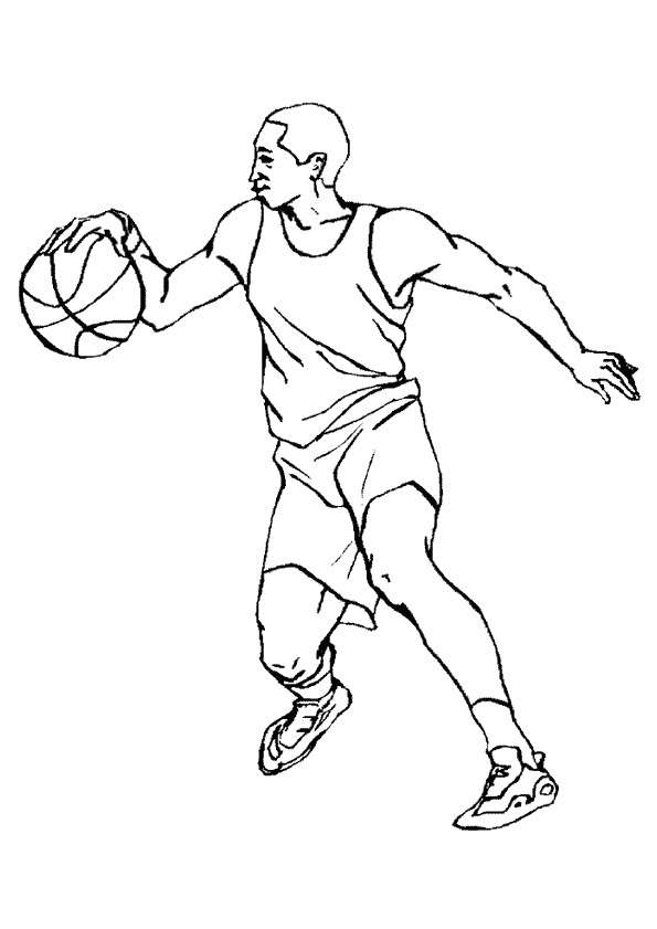 Basketball (1) coloring page