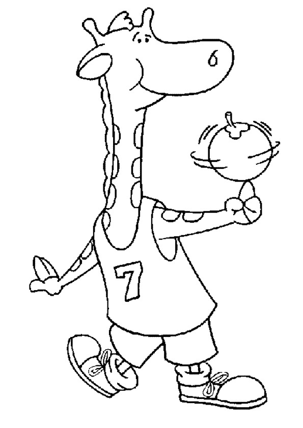 Basketball (12) coloring page