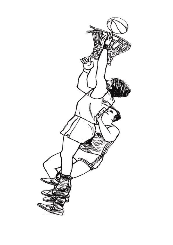 Basketball (14) målarbok