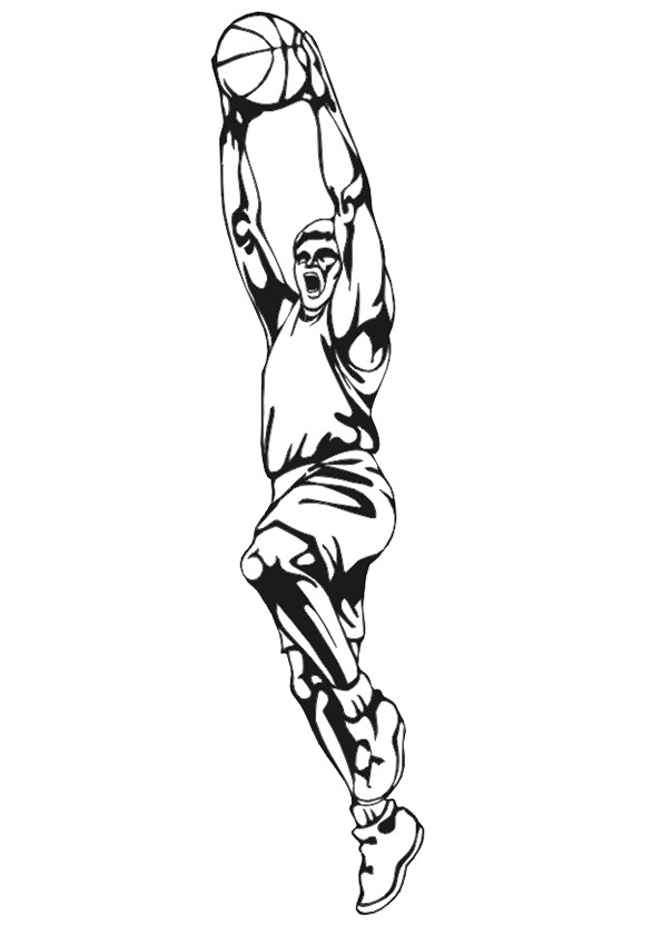 Basketball (15) coloring page