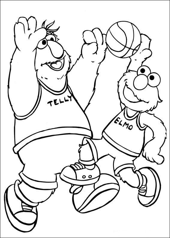 Basketball (18) målarbok