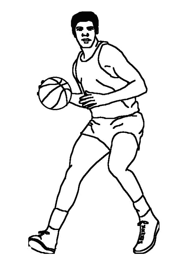 Basketball (4) coloring page