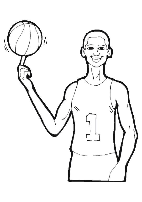 Basketball (6) målarbok