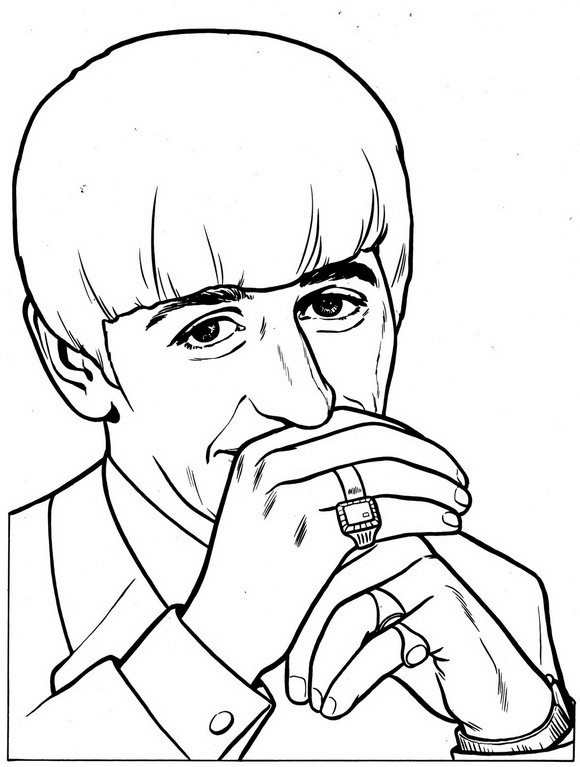 Beatles (6) coloring page