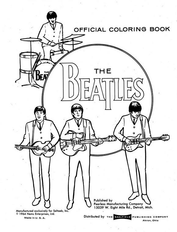Beatles (9) kleurplaat