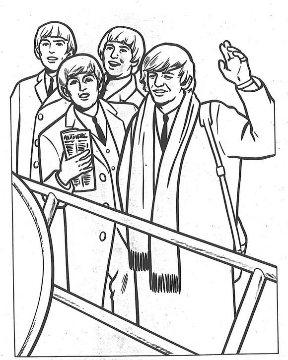 Beatles kleurplaat