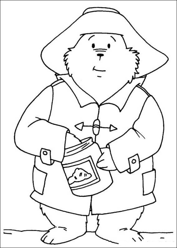 Paddington Bear (1) coloring page